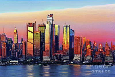Royalty-Free and Rights-Managed Images - Manhattan Sundown Beauty after the Rain  by Regina Geoghan