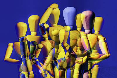 Wilderness Camping - Mannequin Group Pose Abstract by Randall Nyhof