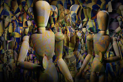 Wilderness Camping - Mannequin Pattern Abstract by Randall Nyhof