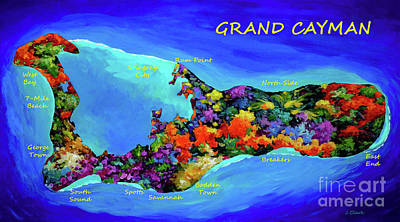 Royalty-Free and Rights-Managed Images - Map of Cayman by John Clark