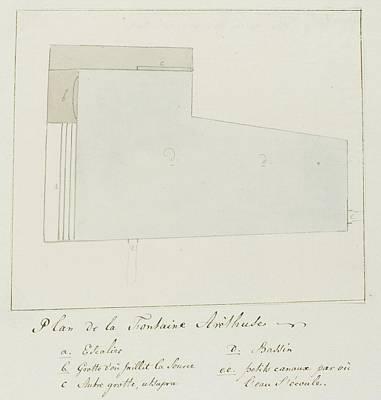 Pop Art - Map of the fountain Arethuse on island Orhtygia Syracuse Louis Ducros 1778 by Artistic Rifki