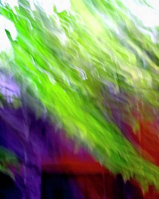 Jerry Sodorff Royalty-Free and Rights-Managed Images - Maple and Fence ICM by Jerry Sodorff