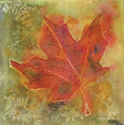 Painting - Maple Leaf by Andrea Rubinstein