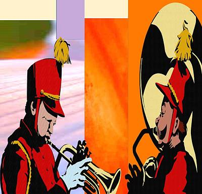 Music Paintings - Marching Band by Belinda Threeths