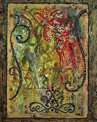 Mixed Media Royalty Free Images - Mardi Gras Royalty-Free Image by Bellesouth Studio