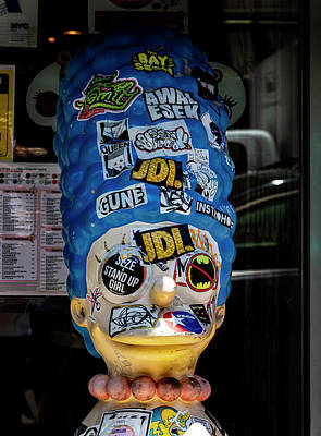 Truck Art Rights Managed Images - Marge Simpson Mannequin Covered with Stickers Royalty-Free Image by Robert Ullmann