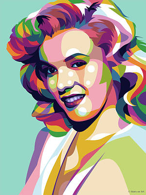 Royalty-Free and Rights-Managed Images - Marilyn Monroe illustrated pop art by Stars on Art