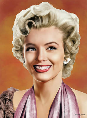 Royalty-Free and Rights-Managed Images - Marilyn Monroe illustrated by Stars on Art