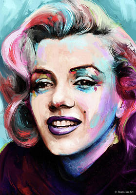Stone Cold - Marilyn Monroe portrait by Stars on Art