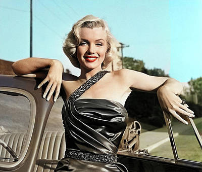 Royalty-Free and Rights-Managed Images - Marilyn Monroe with car by Stars on Art