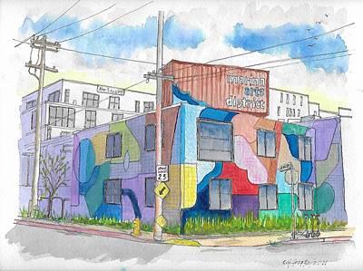 Roaring Red - Marina Arts District in Marina del Rey, California by Carlos G Groppa