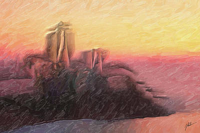 Abstract Shapes Janice Austin Royalty Free Images - Marina Mediterranea Royalty-Free Image by Joaquin Abella