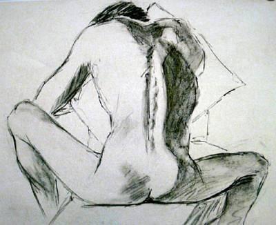 Drawing - Mark Seated by Deborah Carroll