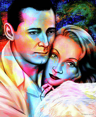 Stone Cold - Marlene Dietrich and Herbert Marshall by Stars on Art