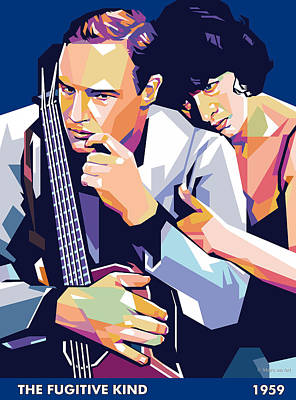Digital Art Royalty Free Images - Marlon Brando and Anna Magnani  Royalty-Free Image by Stars on Art