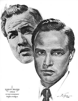 Drawings Royalty Free Images - Marlon Brando by Volpe Royalty-Free Image by Stars on Art