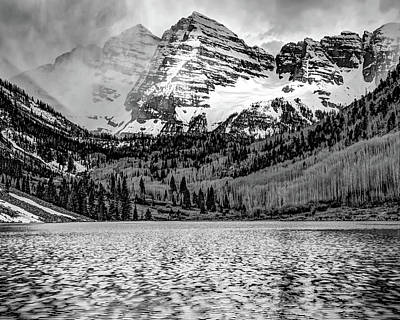 Art History Meets Fashion - Maroon Bells BW Landscape by Gregory Ballos