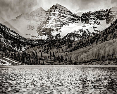 Art History Meets Fashion - Maroon Bells Sepia Landscape by Gregory Ballos