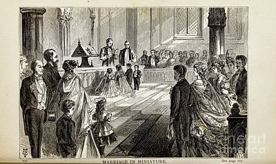 Drawings Royalty Free Images - MARRIAGE IN MINIATURE, i Royalty-Free Image by Historic illustrations