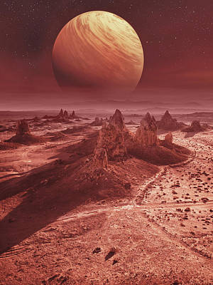 Royalty-Free and Rights-Managed Images - Mars landscape by Mihaela Pater
