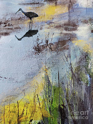 Mixed Media Royalty Free Images - Marsh Impressions 3 Royalty-Free Image by Sharon Williams Eng
