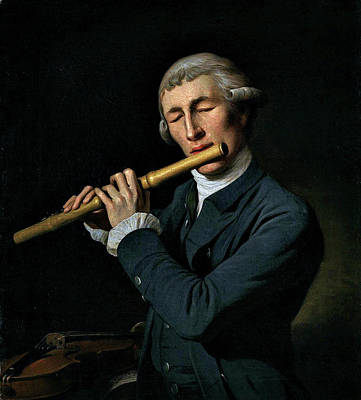 Superhero Ice Pop - Martin Ferdinand Quadal 1736 1811  Portrait of a Man playing a Flute by Artistic Rifki