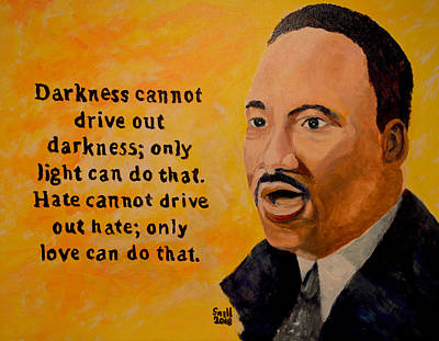 Painting - Martin Luther King Jr. by Roger Snell
