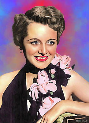 Royalty-Free and Rights-Managed Images - Mary Astor illustration by Stars on Art
