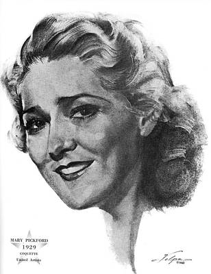 Drawings Royalty Free Images - Mary Pickford by Volpe Royalty-Free Image by Stars on Art