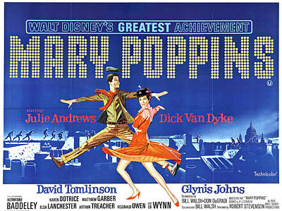 Royalty-Free and Rights-Managed Images - Mary Poppins, with Julie Andrews, 1964 by Stars on Art