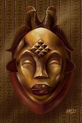 Digital Art - Mask by David James