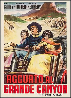 Mixed Media Royalty Free Images - Massacre Canyon, 1954 Royalty-Free Image by Stars on Art