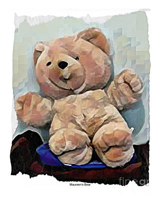 Digital Art - Maureen's Teddy Bear by Art MacKay