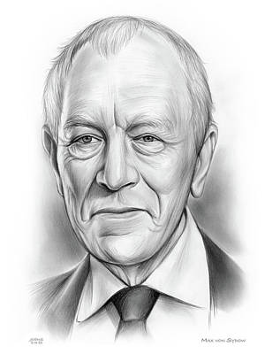 Drawings Royalty Free Images - Max von Sydow Royalty-Free Image by Greg Joens