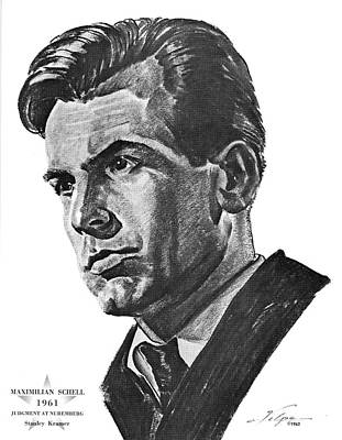 Drawings Royalty Free Images - Maximilian Schell by Volpe Royalty-Free Image by Stars on Art