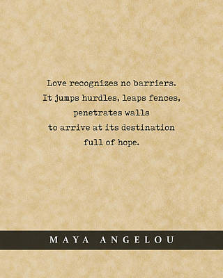 Royalty-Free and Rights-Managed Images - Maya Angelou - Quote Print - Literary Poster 04 by Studio Grafiikka