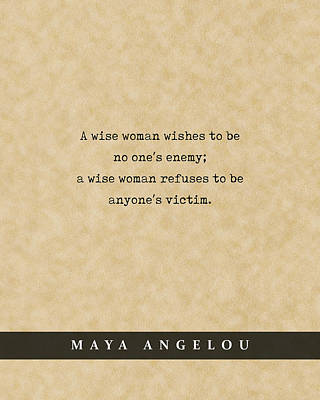 Royalty-Free and Rights-Managed Images - Maya Angelou - Quote Print - Literary Poster 07 by Studio Grafiikka