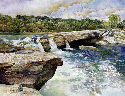 Royalty-Free and Rights-Managed Images - McKinney Falls by Hailey E Herrera