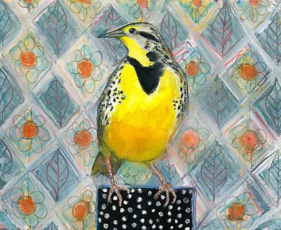 Kitchen Collection - Majestic Meadowlark Bird by Blenda Studio