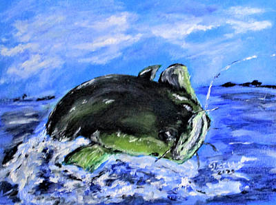 Sports Paintings - Mean Catfish by Clyde J Kell