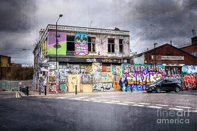 Digital Art - Meanwhile In East London, Lunatics Decorate A Building... by Nigel Bangert
