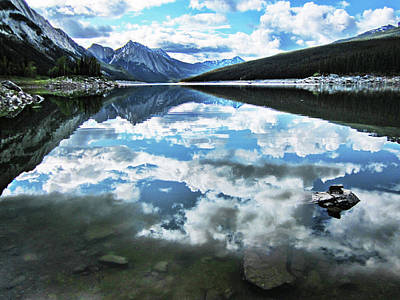 Bringing The Outdoors In - Medicine Lake clouds reflection   by Mihaela Pater