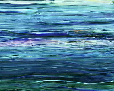 Have A Cupcake - Meditation Waves Of The Sea Blue Turquoise Abstract by Irina Sztukowski