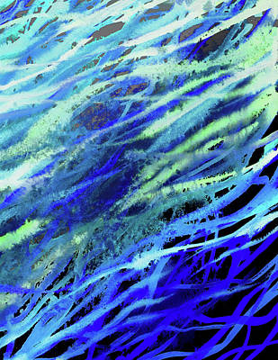 Royalty-Free and Rights-Managed Images - Meditative Flow Of The River Abstract Lines I by Irina Sztukowski