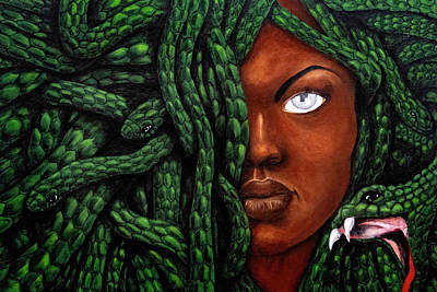 Painting - Medusa by Raymond Brown