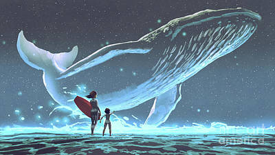 Royalty-Free and Rights-Managed Images - Meet the legendary whale by Tithi Luadthong