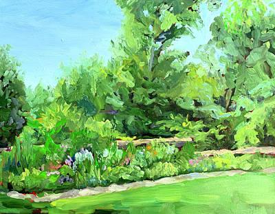 Painting - Melchers' Garden, Fredericksburg by Bart Levy