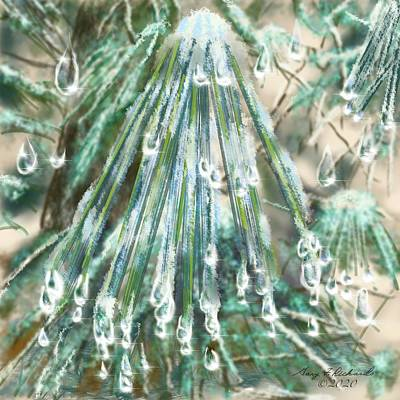 Urban Abstracts Royalty Free Images - Melting Iced Pine Needles Royalty-Free Image by Gary F Richards