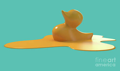 Royalty-Free and Rights-Managed Images - Melting Rubber Duck Concept by Allan Swart
