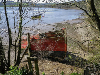 American Milestones - Merganser Hulk Wreck River Tamar Devon by Richard Brookes